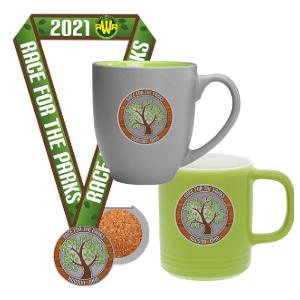 Coaster Medal and Coffee Mug (choose gray or green)!
