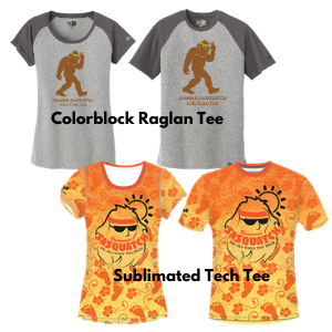 Choose your Summer Sasquatch Swag!
