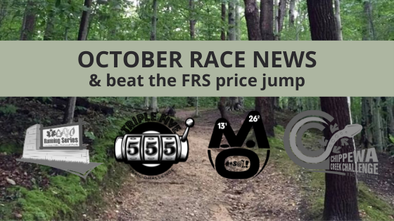 October Race News & Beat the FRS Price Jump